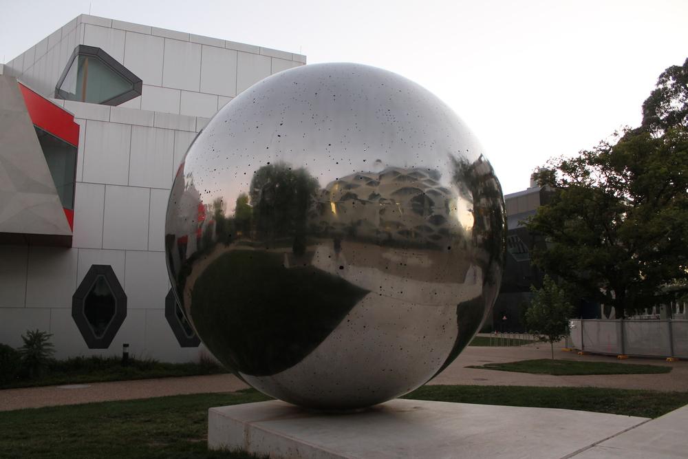 Outside UNA Sculpture