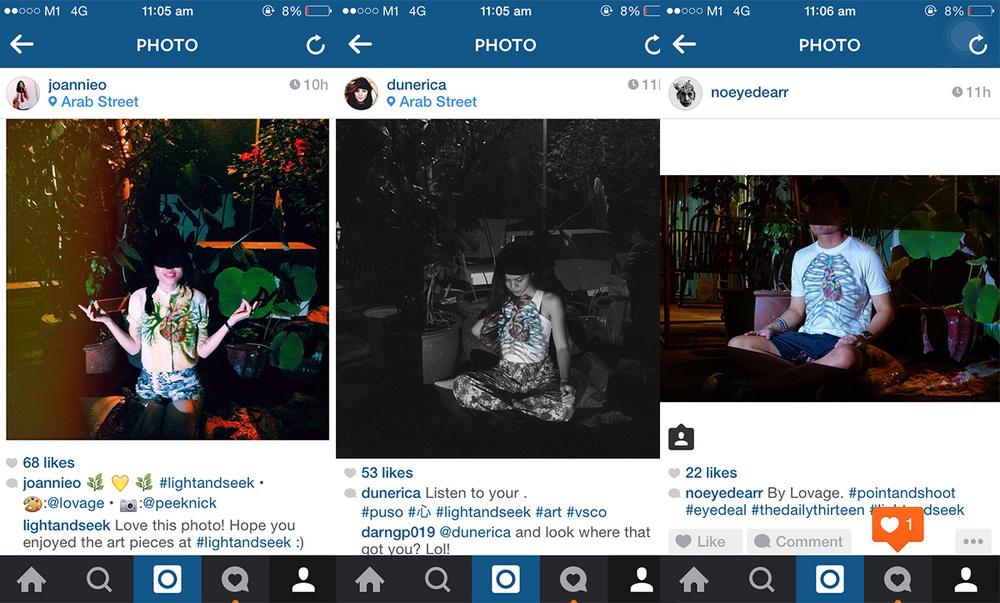 Select social media posts
