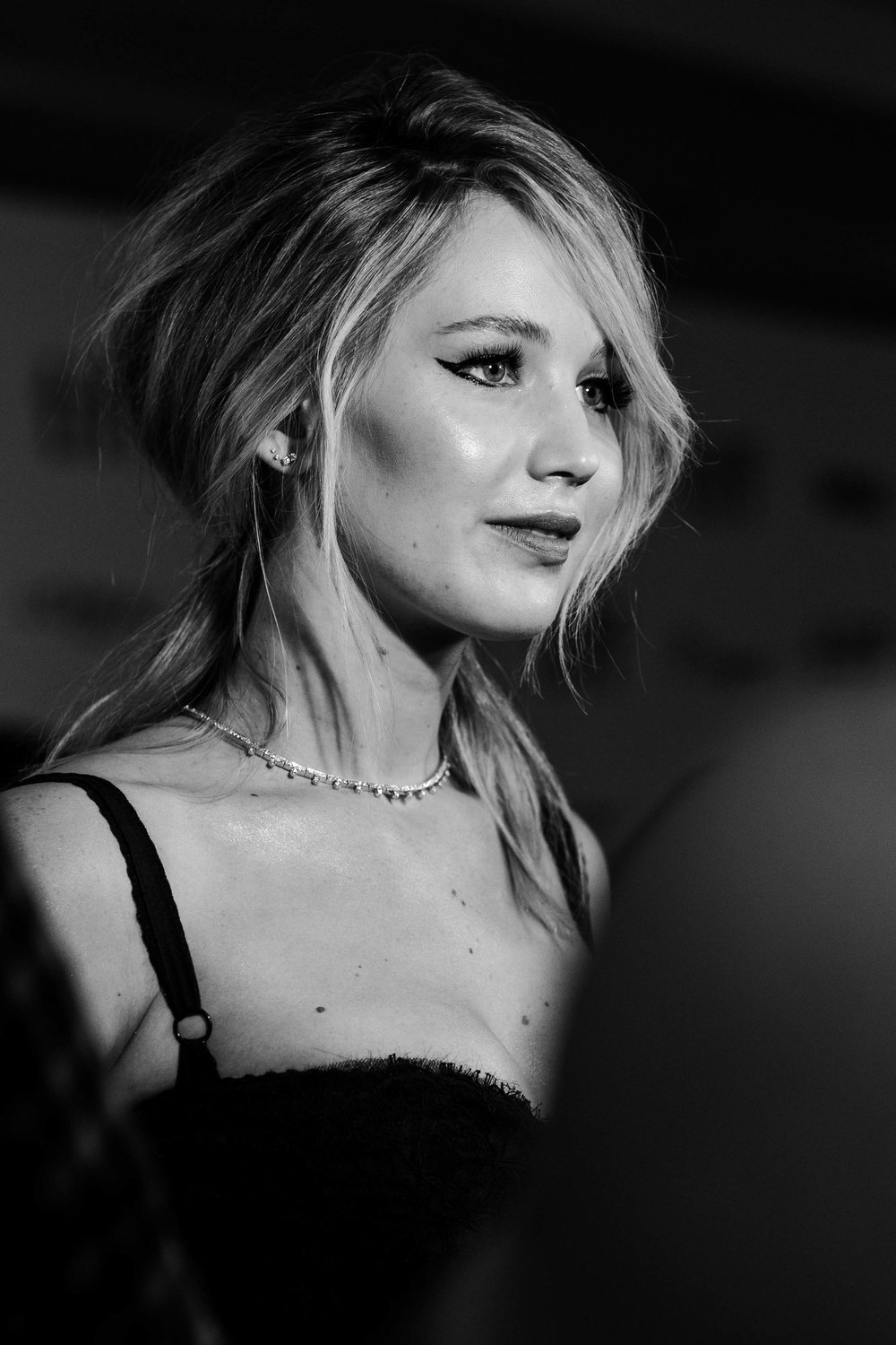 "Jennifer Lawrence at the red carpet premiere of ""Mother!"""
