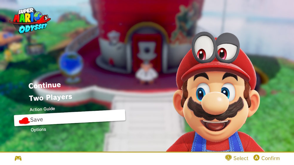 I love how happy Mario looks in this menu!