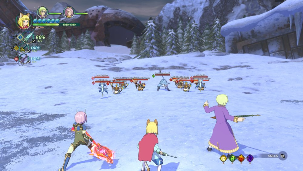 The battles generally throw a good number of enemies at you at once.