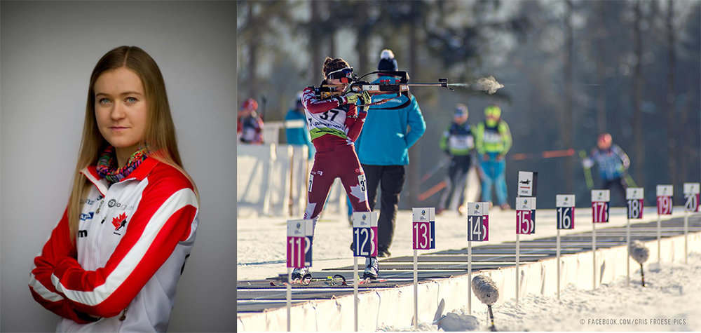 Erin Yungblut is a 23-year old biathlete competing for Canada at International events such as International Biathlon Union (IBU) Cups and World Cups. She originally hails from Wroxeter, Ontario but currently resides in Canmore, Alberta. Erin's goal is to compete for Canada at the 2018 Winter Olympics and win medals at the 2022 Winter Olympics. Along the way she hopes to inspire others to chase their dreams and live their passions, as well as follow a healthy active lifestyle.    Erin races for Canada internationally and represents the province of Ontario when racing domestically. She trains full-time at the National Development Center for Biathlon in Canmore, Alberta, with the team Rocky Mountain Racers. Erin's journey in Nordic sports began nine years ago when she first learned to ski and fell in love with the sport of biathlon six years ago when she began shooting in her final year of high school at Madill.    The challenge of the two unique sports—cross-country skiing and rifle marksmanship—appealed to Erin greatly, and she was set-up for athletic success after a high-school career of cross-country running, track and field, and nordic skiing in Wingham.Erin is drawn to the sport of Biathlon because of the many attributes one must possess to be successful – power, endurance, and finesse on the skis and focus and precision on the range.    Facebook: Erin Yungblut  instagram: @erin_feminem  twitter: @erinyungblut website: http://erinyungblut.wixsite.com/biathlete   Erin Yungblut - Canadian Biathlete    erinyungblut.wixsite.com   Website for Canadian skier and biathlete Erin Yungblut; information, sponsors, photos, and blog.