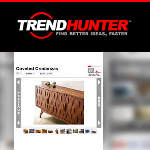 "TrendHunter Magazine Coveted Credenzas ""I love the way Caleb is willing to experiment with shapes other than the typical squares and rectangles."""