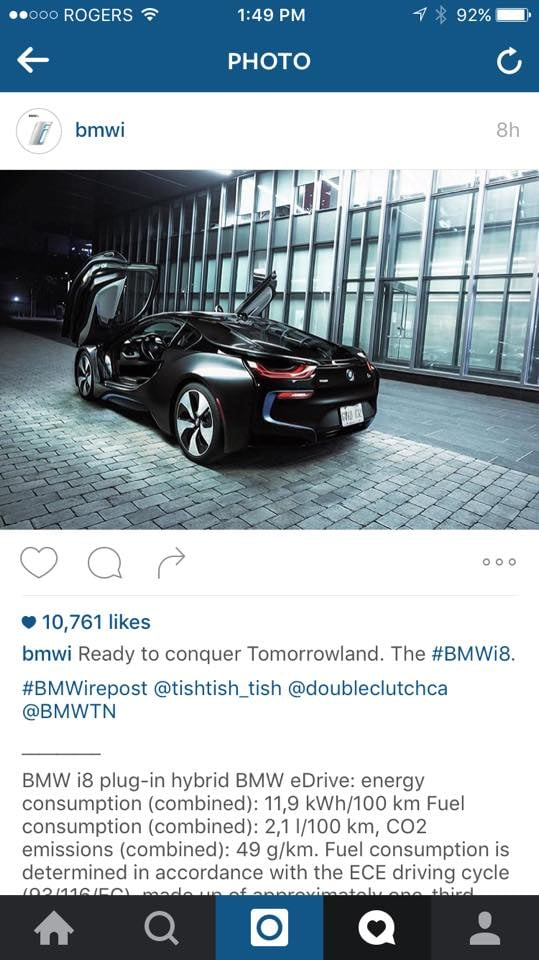 Featured by BMW's i devision.
