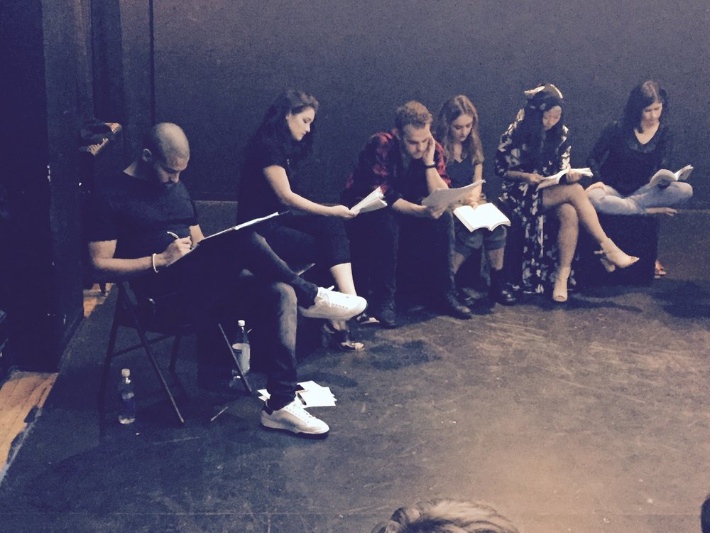 First Staged Reading of Polaroid Stories, Summer 2015