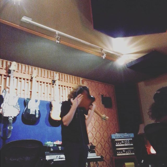 Final touch!! Screaming into a guitar pickup. #hardrock #echoplant #almostdone #switchtoblack #fuckya