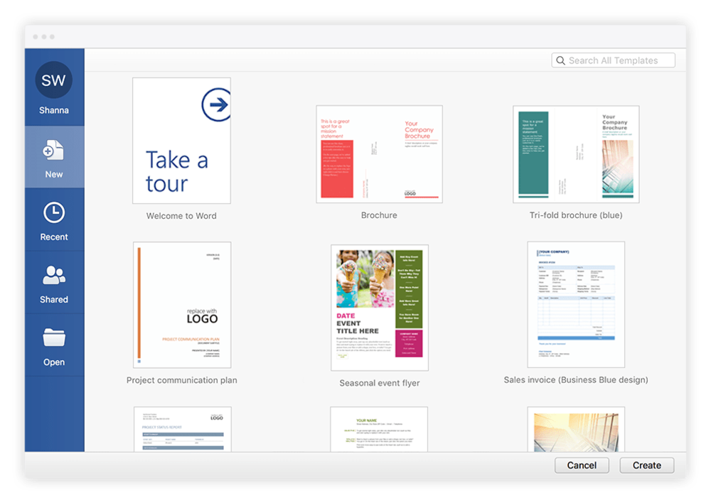 Microsoft Office Shanna Williams - Microsoft office design templates