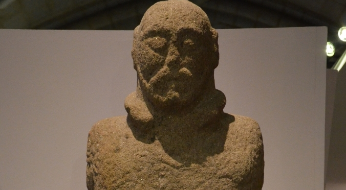 This warrior definitely has a mustache. By Carole Raddato from FRANKFURT, Germany - Granite statue of a Lusitanian Warrior, dating from the 1st century AD, National Archaeology Museum, Lisbon, CC BY-SA 2.0, https://commons.wikimedia.org/w/index.php?curid=37882307
