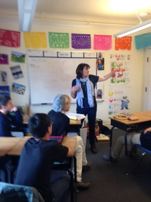 Talking at Sterne School San Francisco