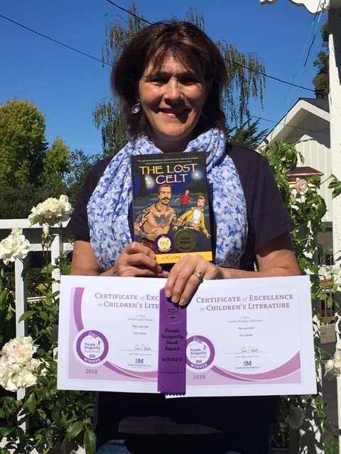 me with purple dragonfly awards.jpg
