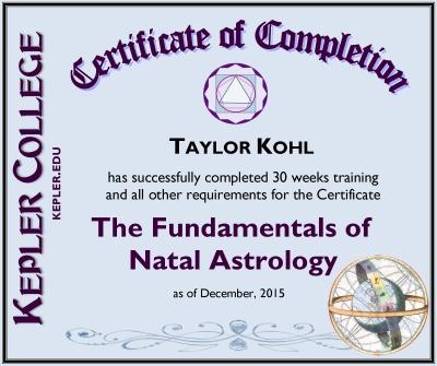 About Taylor Taylor Kohl Astrology
