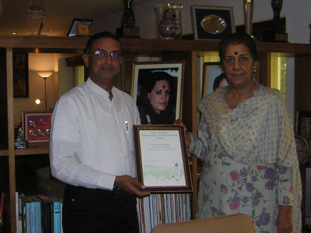 With Ambika Soni, Minister of Tourism, Government of India, New Delhi, 2008