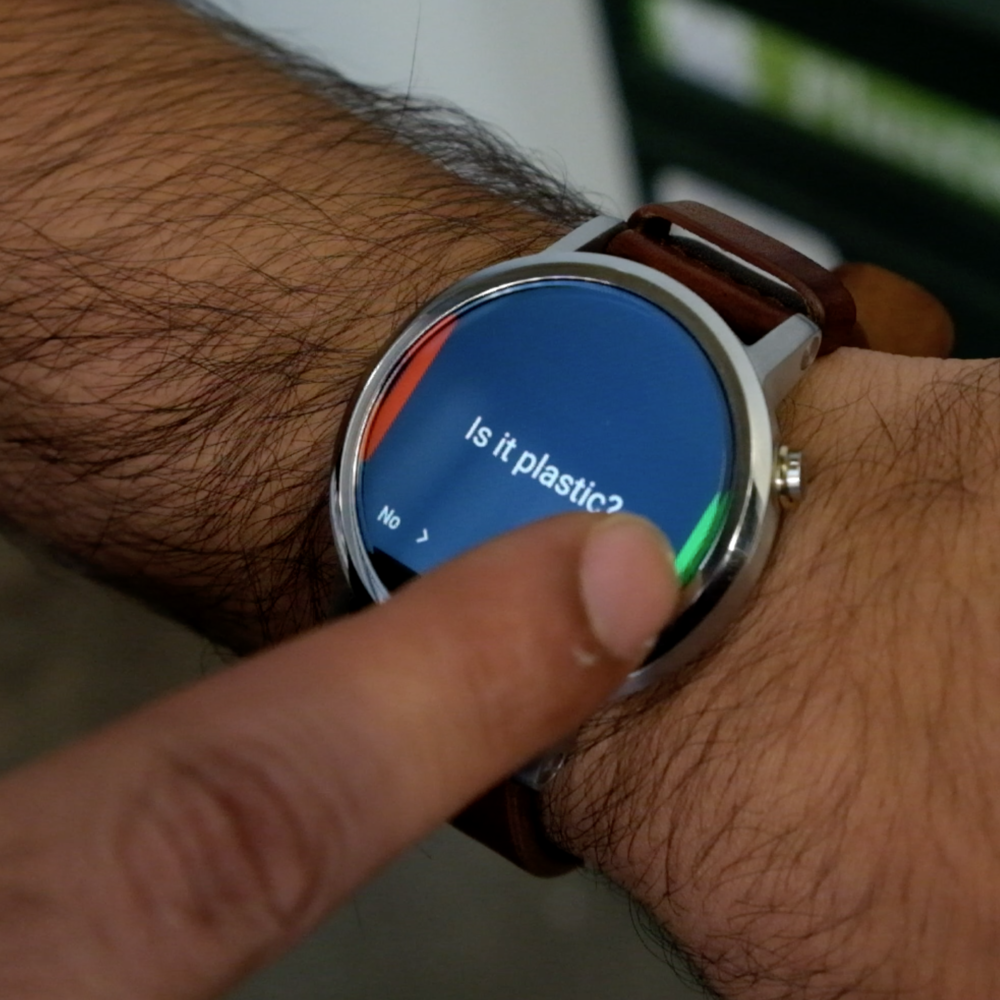 A wearable app that helps you to recycle better Sep - Dec 2016