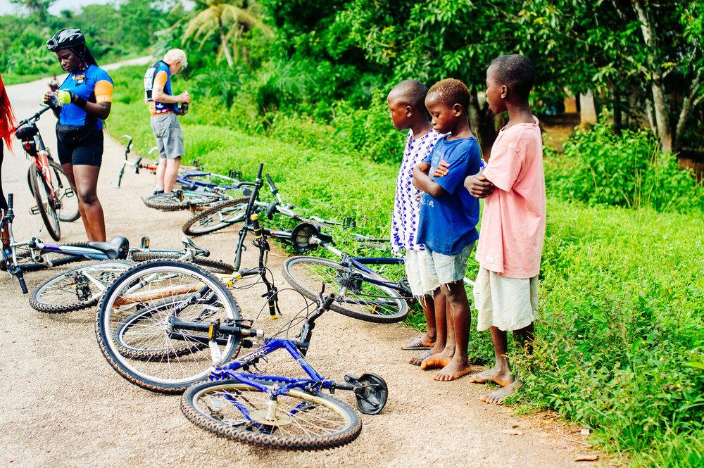 Fietsen door west afrika