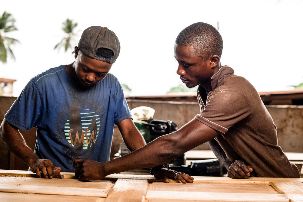 Familiebedrijfje in west afrika