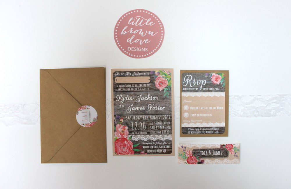 country charm a6 invitation bundle lovingly handmade wedding