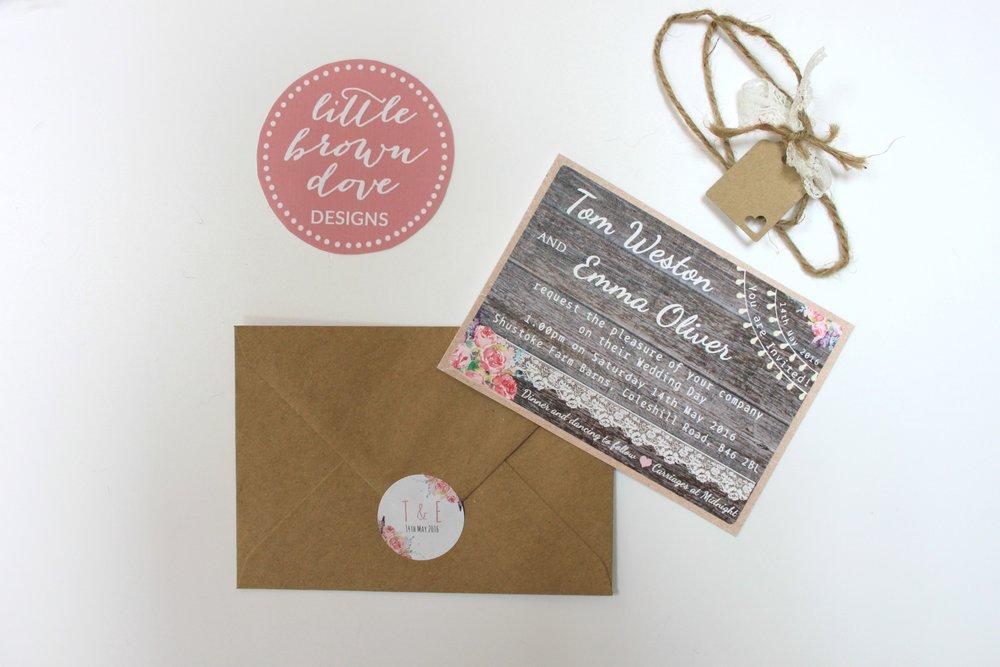 barn romance a6 invitation bundle lovingly handmade wedding stationery