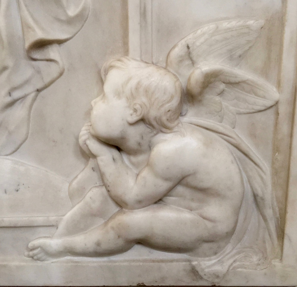 Bas-relief by Eleonore Blount