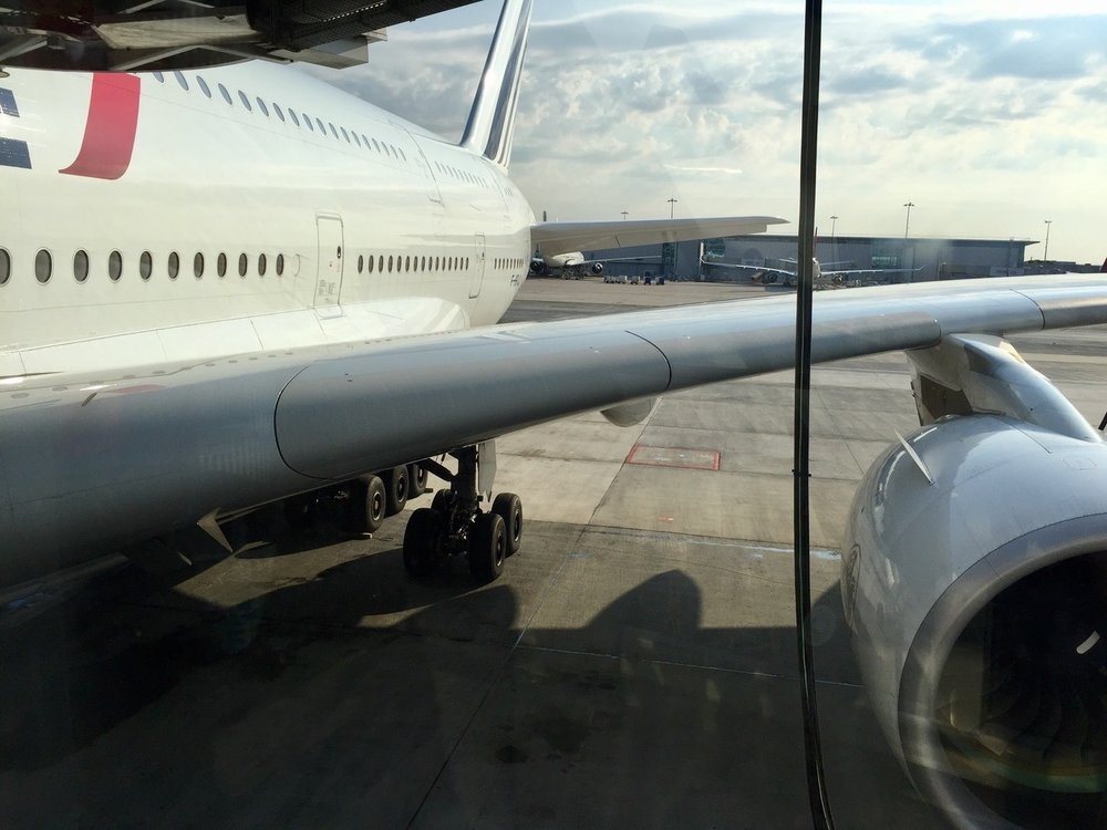 The view before boarding—beautiful aeronautic design!