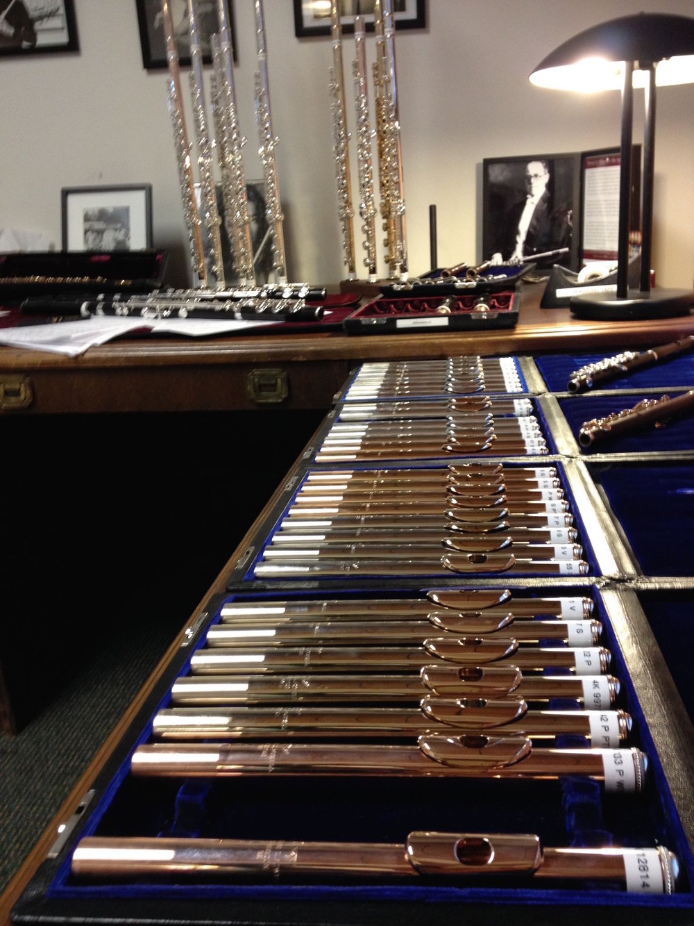 The flute-testing room at Powell's Boston factory—coming SOON to LISBON!