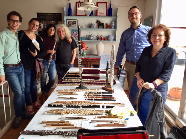 The early risers on POWELL DAY, with Tiago Canto, Dina Hernandez, Vera Morais, Tomás Miranda, Daniel Sharp, Rebecca Eckles and a LOT of flutes!