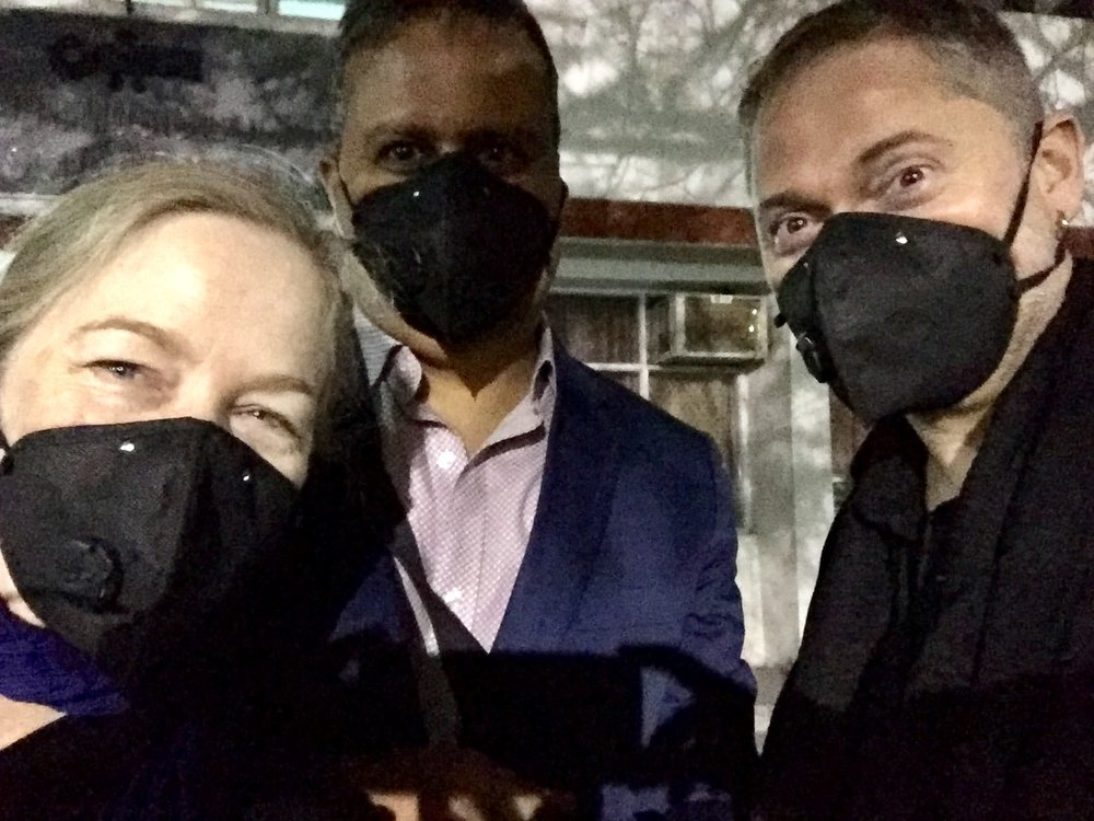 Masks to protect against the smoke (receding, fortunately) in Delhi—better safe than sorry.