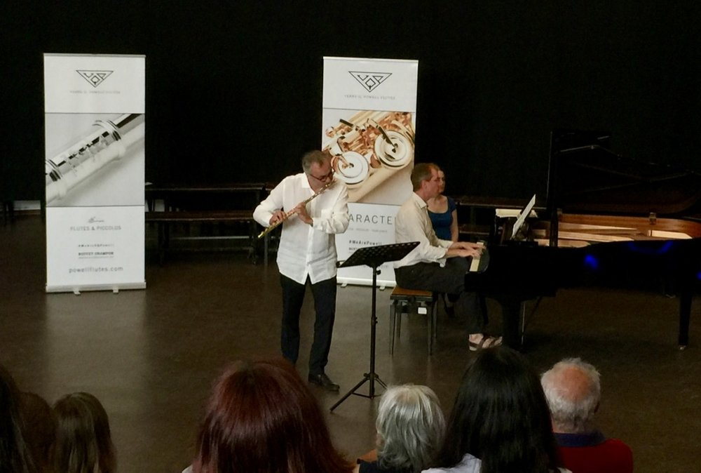 Philippe Bernold in recital with pianist Jonathan Ayerst, at the Summer Flute Academy, Tomar