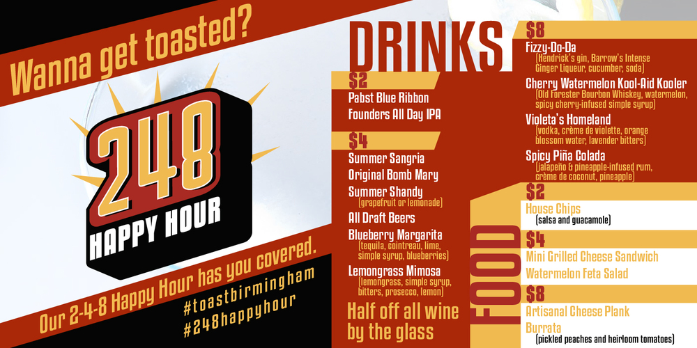 2-4-8 Happy Hour Promo