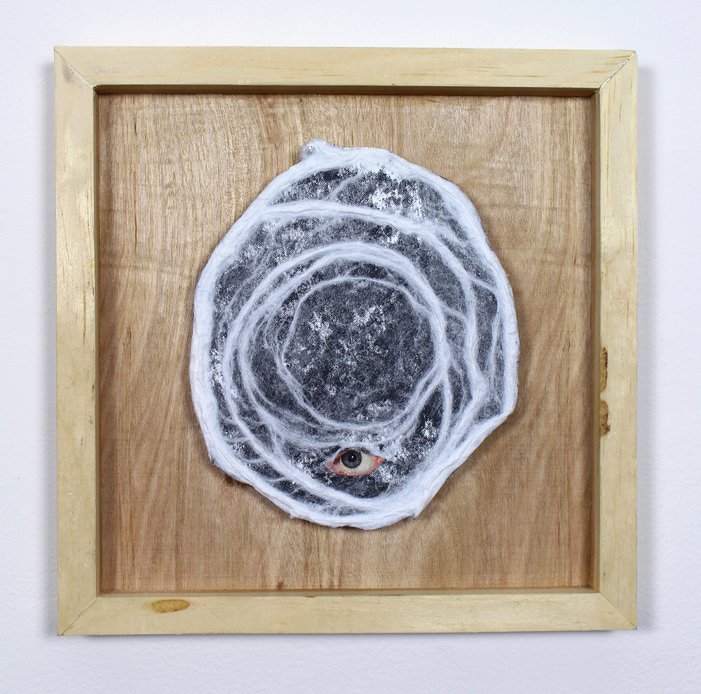 """Transcendental Body: 1"" Found Images, Paper Pulp, Wood 2014"