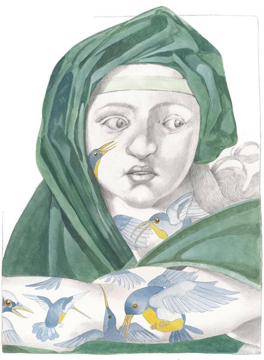 The Delphic Sibyl-Michelangelo