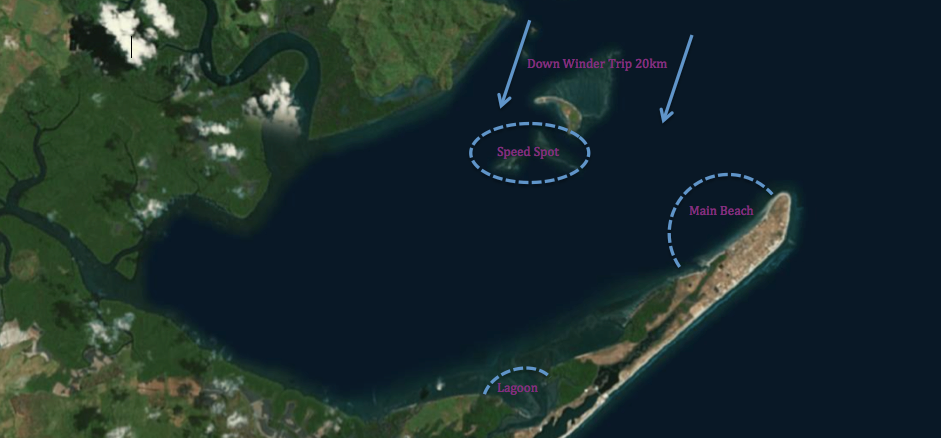 Punta Chame - Kite Spot Map