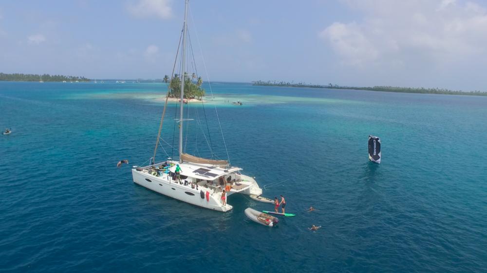 ....Kitesurfing in the San Blas..Kitesurfen auf den San Blas Inseln....
