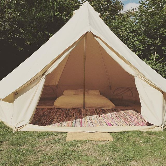 Canvas Tent 1 person - $18 per night 2 person - $30 per night Shared outside bathroom