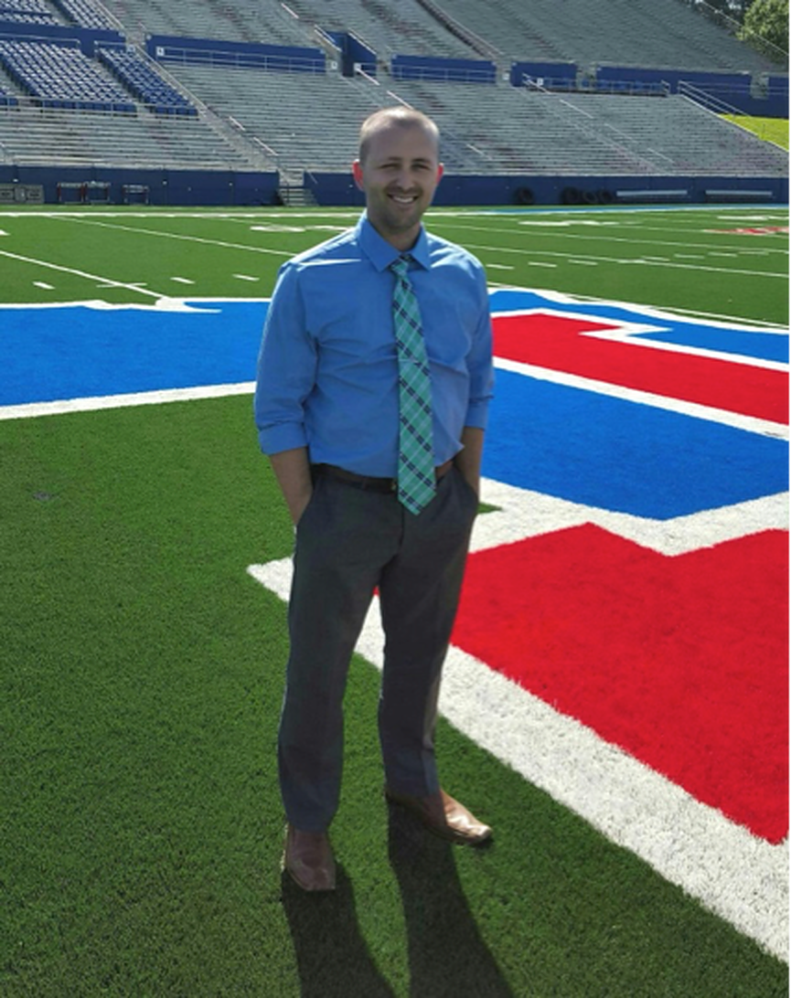 Chris Nichols, the Manager of the Fan Relationship Management Center for The Aspire Group Inc. at Louisiana Tech University