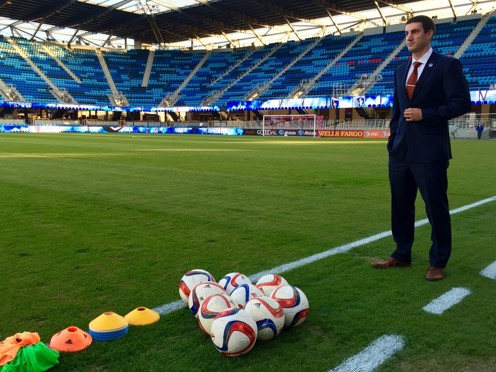 Jake Pisani, Senior Coordinator of Media Relations for the San Jose Earthquakes