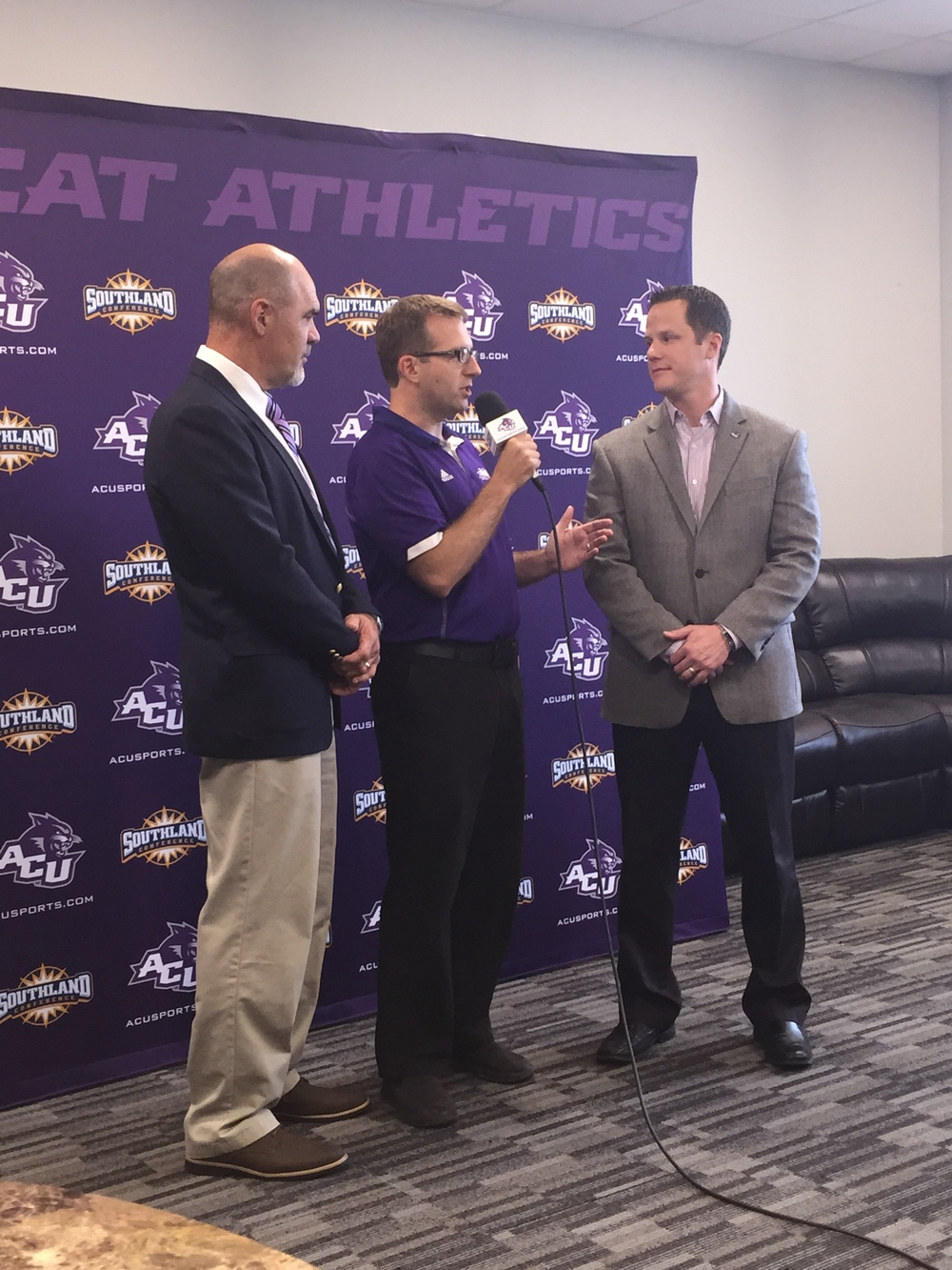 "Media ""Meet and Greet"" with the new ACU Track and Field Coach, Lance Bingham"