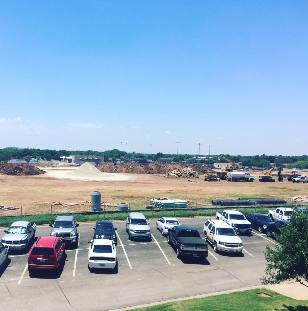 Continuing construction of Wildcat Stadium