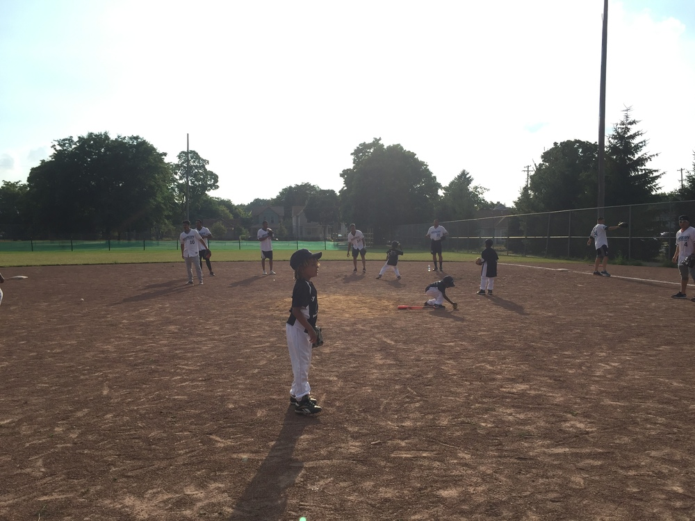 Kids playing at Ted Rasberry Field. Photo Courtesy of Lauren Benda
