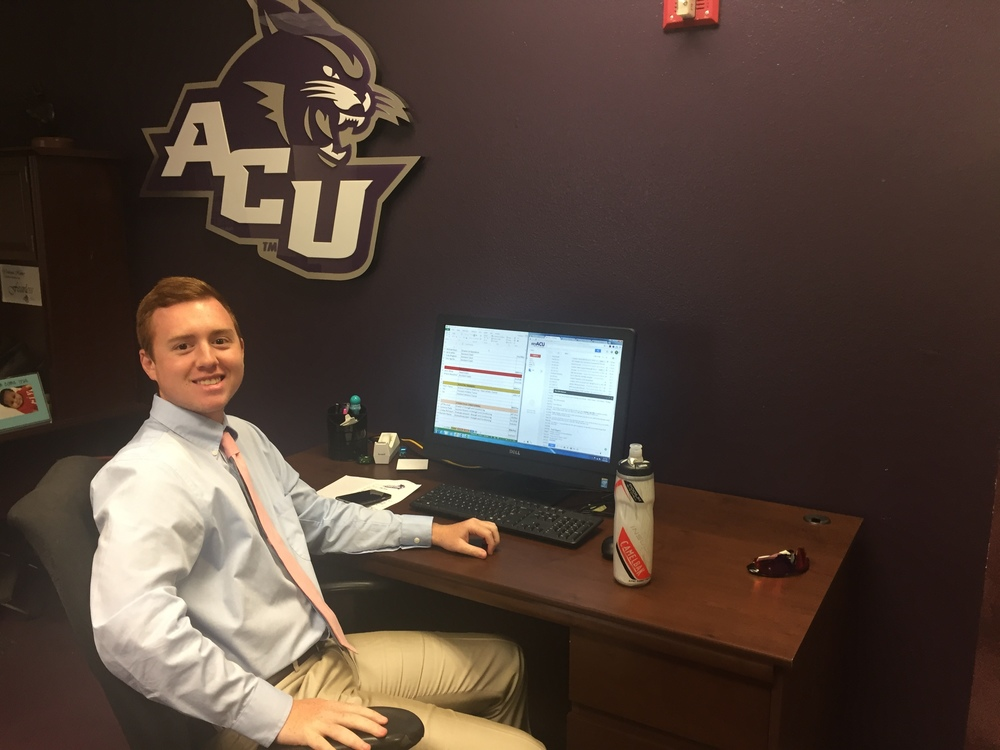 Looking good and putting in the work, Todd Rogers has enjoyed his time at ACU