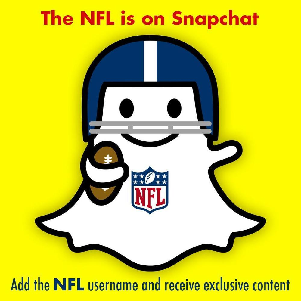 The NFL has become the first pro league to reach a deal with Snapchat. Photo via fortune.com.