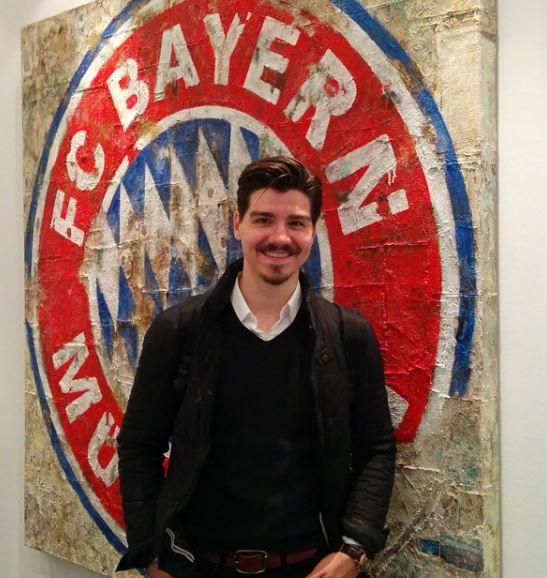 Cristian over at the Bayern Munich headquarters. PC: Cristian Nyari