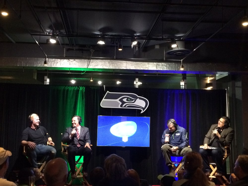 Seahawks Punter Jon Ryan, far left, was one of many players featured on Seahawks Weekly, a live broadcast that takes place every Thursday during the Seahawks season on 710 ESPN Seattle.