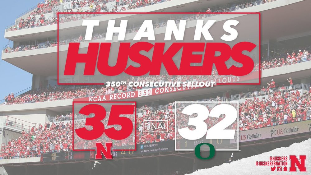 The Huskers had a big day on and off the field. Photo via @Huskers