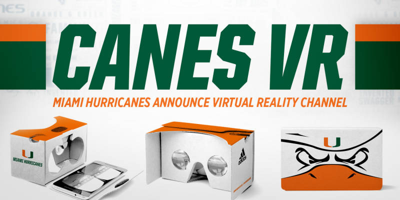 VR headset that fans will get when they purchase from the University of Miami. Photo via Tim Brogdon.