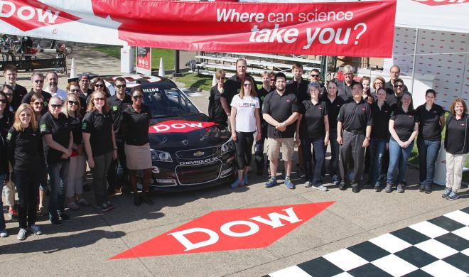 Dow Chemical has achieved success in sports sponsorship, especially NASCAR. Photo via The Franklin Institute.