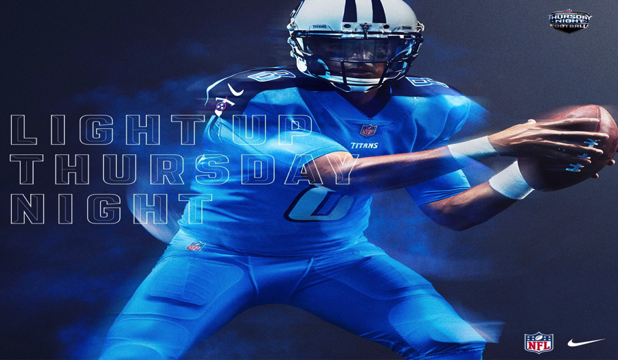 Again, Tennessee is blessed with the gorgeous shade of blue. Not as cool with dark blue and white accents when comparing it too the Panthers, but still nice.