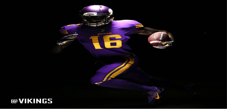 I wish they would have done a little less with the yellow, and this would be at the top of my list. The Viking's purple is hard to mess up.
