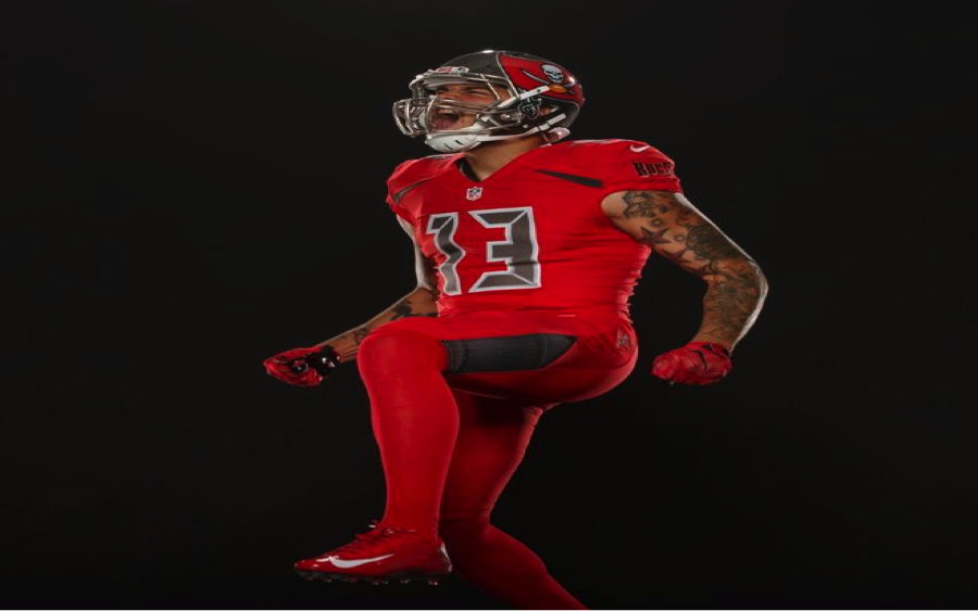 All red is a lot, but the grey accents make this uni sleek.