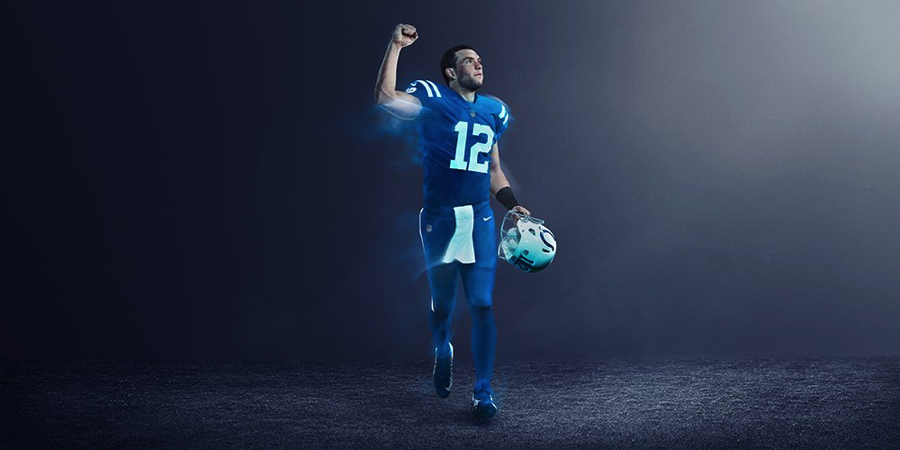 The Colts got the short end of the stick with their shade of blue. They look like the Indianapolis Smurfs.