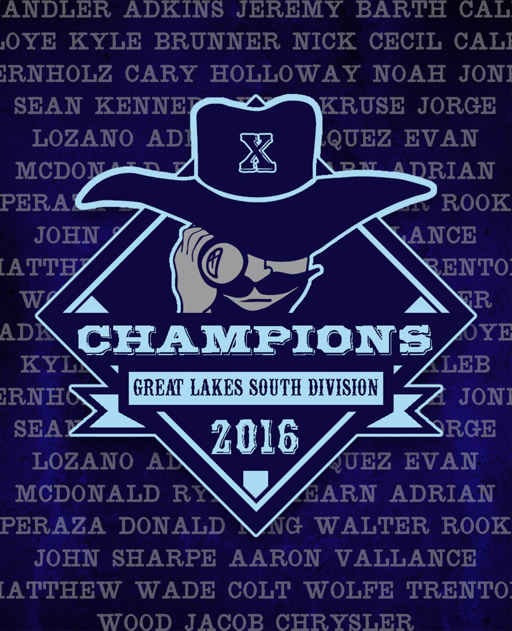 Xenia Scouts Great Lakes South Division Champions graphic created by Gardner